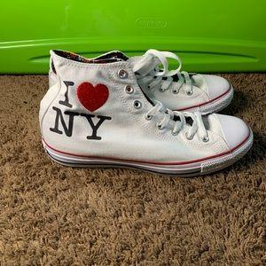 """Converse """" I Love NY """" Hi Top Sneaker"""